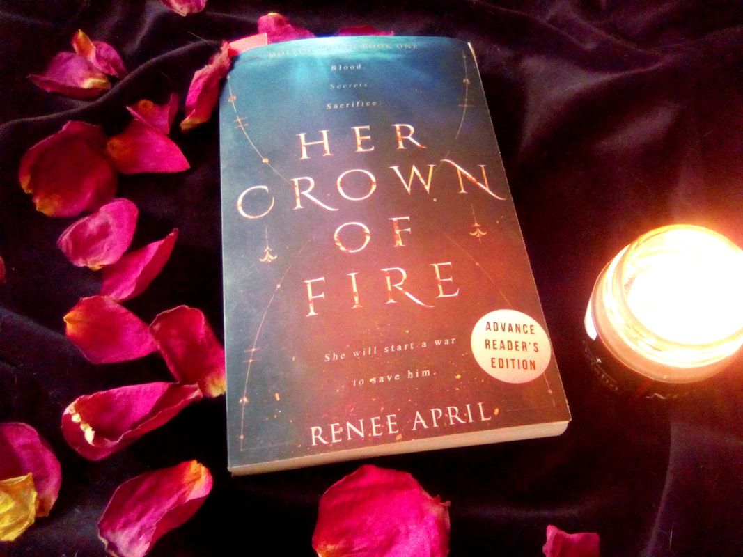 Book Review Her Crown of Fire by Renee April YA fantasy romance books